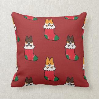 Navidad del Corgi que almacena la almohada del