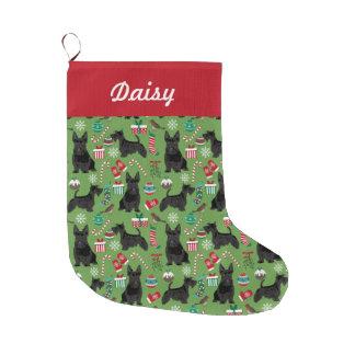 navidad del escocés que almacena diseño escocés calcetín de navidad grande