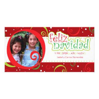 navidad del feliz (alegre) tarjetas con fotos personalizadas
