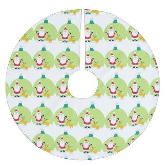 Navidad del globo de la nieve de Papá Noel y del Falda Para El Árbol De Navidad