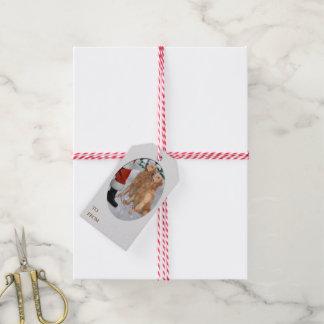 Navidad del golden retriever etiquetas para regalos