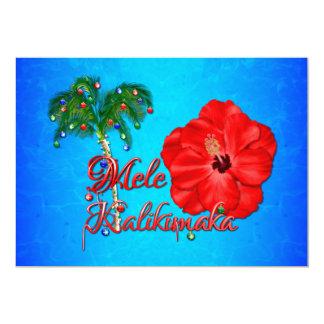 Navidad del Hawaiian de Mele Kalikimaka Invitación 12,7 X 17,8 Cm