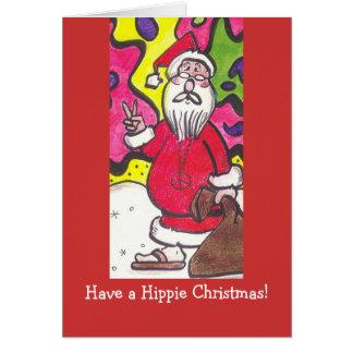 Navidad del Hippie Tarjeta