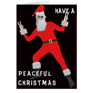 Navidad del hippy tarjeta de felicitación