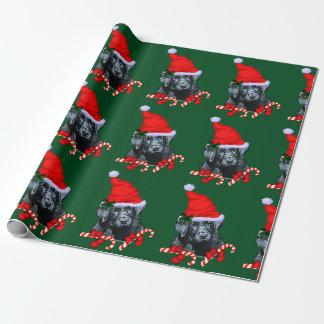 Navidad del labrador retriever papel de regalo