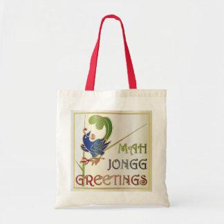 Navidad del Mah Jongg un bolso del Bam Bolsa Tela Barata