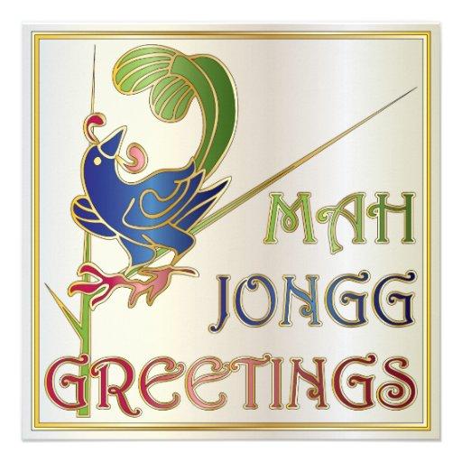 Navidad del Mah Jongg una invitación/tarjeta del B