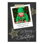 Navidad del marco y de la cinta de la foto de la invitacion personalizada