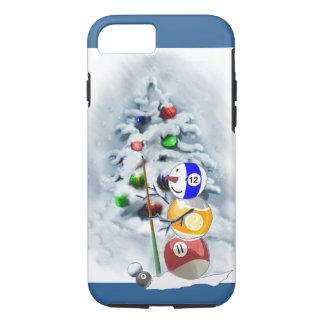Navidad del muñeco de nieve de la bola de billar funda iPhone 7