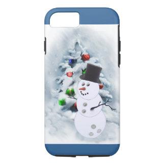 Navidad del muñeco de nieve de la bola de bolos funda iPhone 7