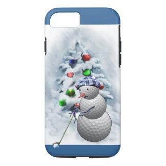 Navidad del muñeco de nieve de la pelota de golf funda iPhone 7