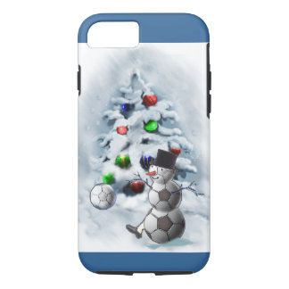 Navidad del muñeco de nieve del balón de fútbol funda iPhone 7