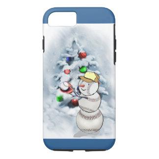 Navidad del muñeco de nieve del béisbol funda iPhone 7
