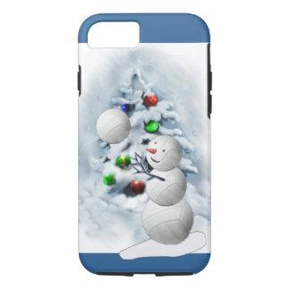 Navidad del muñeco de nieve del voleibol funda iPhone 7