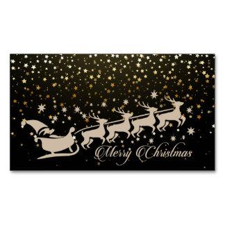Navidad del navidad tarjeta de visita magnética