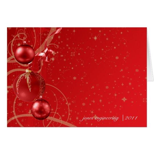 Navidad del negocio del ornamento del navidad del tarjeta pequeña
