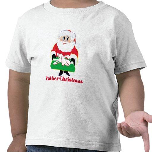 Navidad del padre camisetas