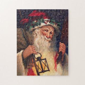 Navidad del padre con la linterna puzzles