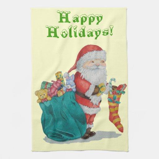 navidad del padre con las toallas de cocina del ar