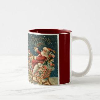 Navidad del padre del Victorian Taza De Café De Dos Colores