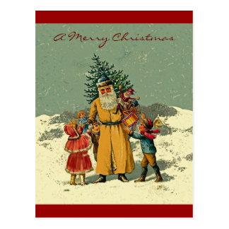 navidad del padre del Viejo Mundo Postal