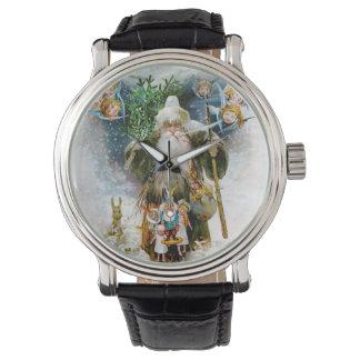 Navidad del padre del vintage relojes de pulsera