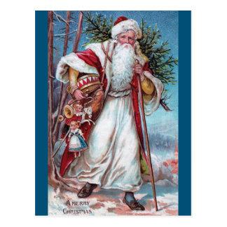 Navidad del padre en su manera postal