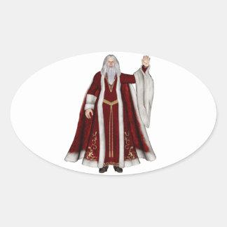 Navidad del padre colcomanias de oval