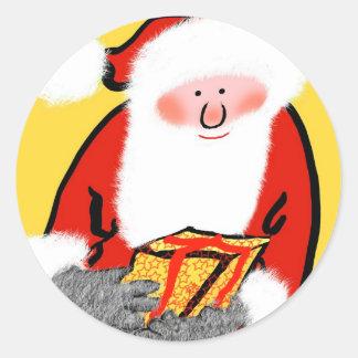 Navidad del padre pegatina redonda