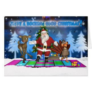 Navidad del padre - reno - Turquía - sustancia Tarjeta