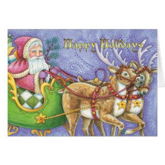 Navidad del padre - Santa - tarjeta de Navidad