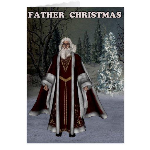 Navidad del padre felicitación