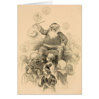 Navidad del padre tarjeton