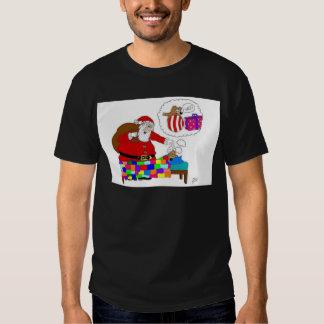 Navidad del padre y rata de Yabba Camisetas