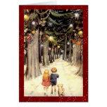 Navidad del país de las maravillas del invierno de tarjeta de felicitación