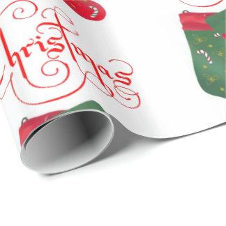 Navidad del papel de embalaje