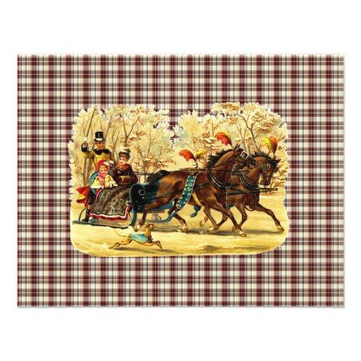 Navidad del paseo del trineo del Victorian Comunicado Personal