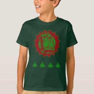Navidad del pedal de la distorsión con el árbol camiseta