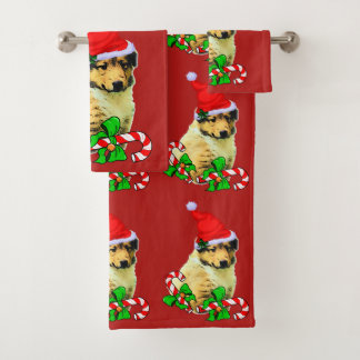 Navidad del perrito del collie