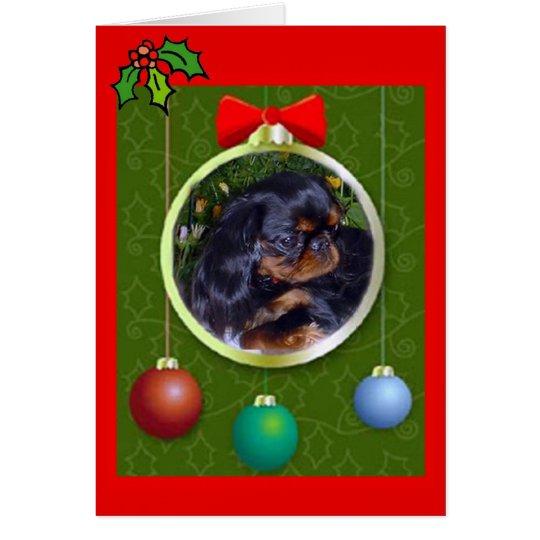 Navidad del perro de aguas de juguete inglés tarjeta de felicitación