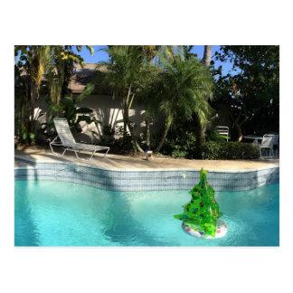 Navidad del Poolside Postal