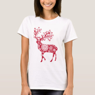 Navidad del reno camiseta