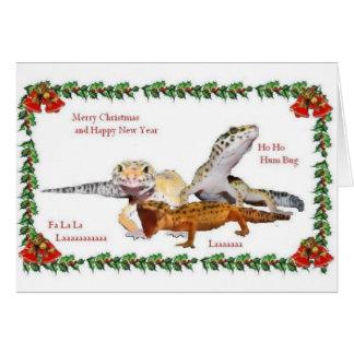 Navidad del reptil tarjeta de felicitación