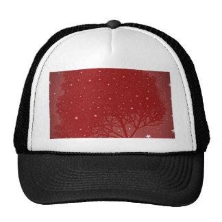 navidad del rojo del árbol del efecto gorros bordados