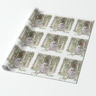 Navidad del samoyedo papel de regalo