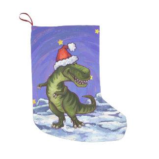 Navidad del Tyrannosaurus Calcetín De Navidad Pequeño