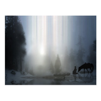 Navidad del vaquero con la postal del caballo