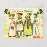Navidad del Victorian del vintage que saluda de