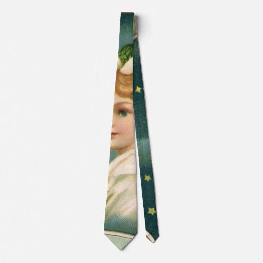 Navidad del vintage, ángel del Victorian con las Corbatas