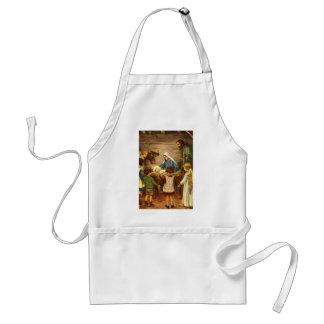 Navidad del vintage, bebé religioso Jesús de la Delantal